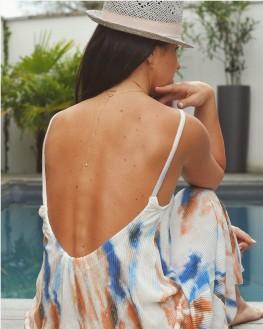 Collier chaîne plaqué or robe dos nu - Bijoux créateur mode - Madame Vedette