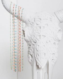 Collier chaîne plaqué or perles couleur style une à une - Bijoux créateur tendance - Madame Vedette