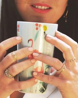 Bague tendance en plaqué or pour femme - Bijoux créateur idée cadeau - Madame Vedette