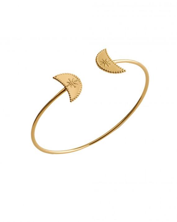 Nouveauté acheter bracelet femme jonc ouvert en plaqué or - Bijoux de créateur - Madame Vedette