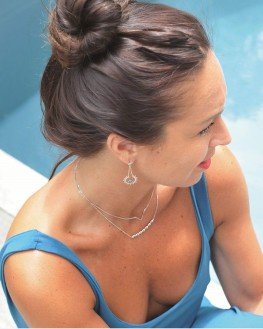 Composition femme collier chaîne pendentif argent 925 - Bijoux créateur par Madame Vedette