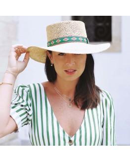 Tendance collier femme chaîne plaqué or et aventurine - Bijoux de créateur - Madame Vedette