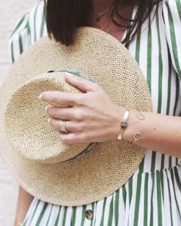 Tendance bracelet femme jonc ouvert plaqué or - Bijoux de créateur - Madame Vedette