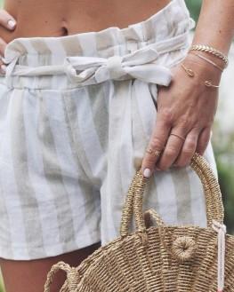 Tendance bracelet femme chaîne plaqué or et perles barrette - Bijoux de créateur - Madame Vedette