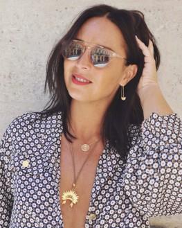 Tendance collier femme chaîne et médaillon plaqué or - Bijoux de créateur - Madame Vedette