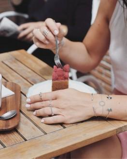 Tendance bracelet femme jonc ouvert en argent 925 et brillants zircon - Bijoux de créateur - Madame Vedette
