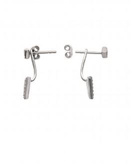 Création boucles d'oreilles femme en argent 925 et brillants zircon - Bijoux mode créateur - Madame Vedette