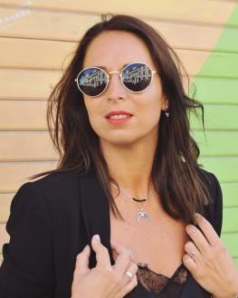 Tendance boucles d'oreilles femme ajourées en argent 925 motifs triangles - Bijoux de créateur - Madame Vedette