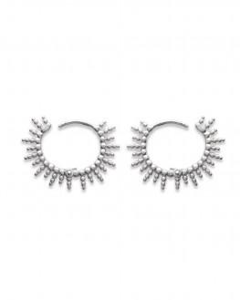 Nouveauté top tendance boucles d'oreilles créoles pour femme en argent 925 - Bijoux de créateurs - Madame Vedette