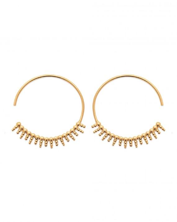 Boucles d'oreilles créoles femme en plaqué or - Créations de bijoux tendances - Madame Vedette