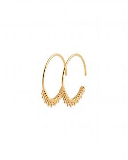 Boucles d'oreilles fantaisie créoles en plaqué or pour femme - Bijoux de créateurs - Madame Vedette