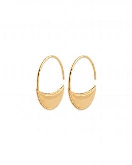 Tendance actuelle boucles d'oreilles créoles fantaisie en plaqué or - Bijoux de créateurs pour femme - Madame Vedette