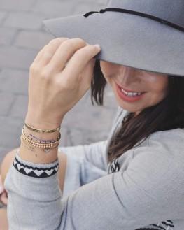 Composition bracelets fantaisie tendances en plaqué or pour femme - Bijoux de créateurs - Madame Vedette