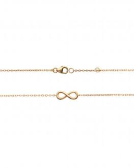 Bracelet infini plaqué or pour femme - Création de bijoux fins - Madame Vedette