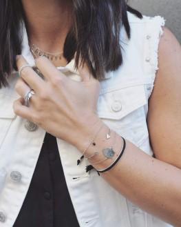 Bracelet femme chaîne et tête de bouddha argent 925 - Bijoux fantaisie créateurs x Madame Vedette