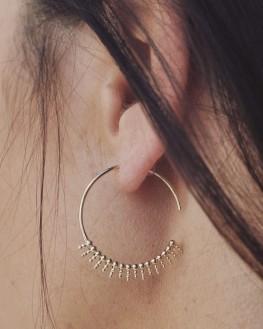 Boucles d'oreilles créoles pour femme en plaqué or - Bijoux de créateurs - Madame Vedette