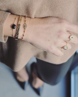 Nouveauté bague femme médaillon plaqué or - Bijoux fantaisie créateurs - Madame Vedette