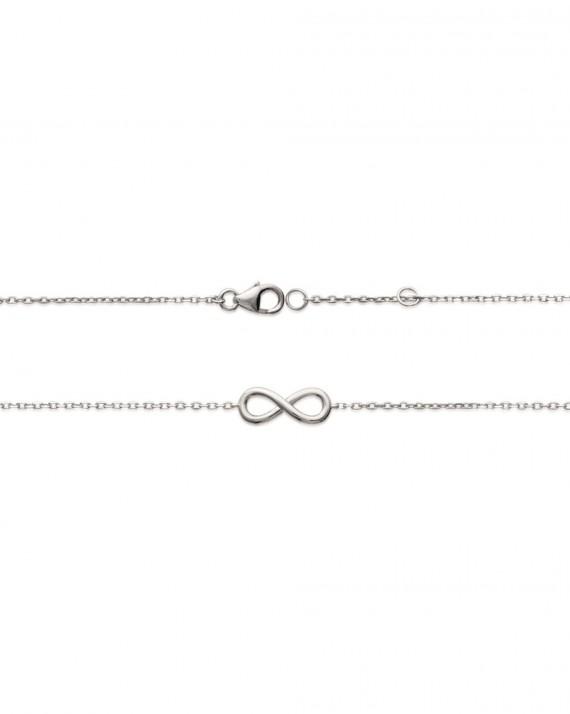 Bracelet infini argent 925 pour femme - Bijoux fantaisies de créateur - Madame Vedette