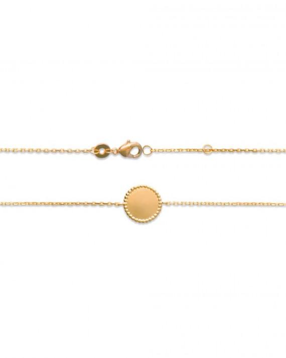 Bracelet femme avec chaîne plaqué or et rond - Bijoux fantaisies de créateur - Madame Vedette