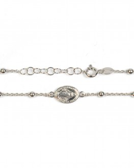 Création bracelet femme en argent 925 motif madone - Bijoux fins de créateur - Madame Vedette