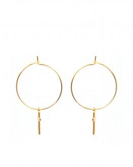 Boucles d'oreilles créoles plaqué or pour femme - Bijoux fantaisie créateurs - Madame Vedette