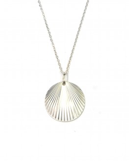 Collier sautoir pendentif st jacques argent 925 - Atelier bijoux fantaisie - Madame Vedette