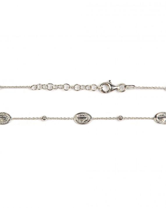 Bracelet tendance pour femme en argent 925 médaille madone - Bijoux fantaisie créateurs - Madame Vedette