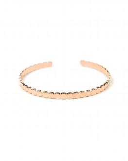 Bracelet jonc plaqué or rose pour femme - Bijoux fantaisie de créateurs - Madame Vedette