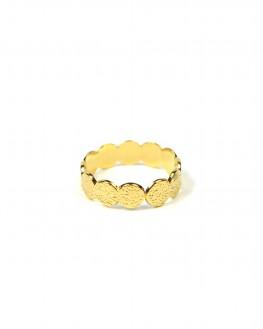 Bague tendance texturée plaqué or pour femme - Bijoux fins de créateurs - Madame Vedette