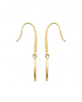 Boucles d'oreilles pendantes plaqué or pour femme - Bijoux fantaisie créateurs - Madame Vedette