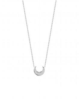 Collier chaîne argent 925 pendentif croissant de lune - Bijoux fantaisie créateurs x Madame Vedette