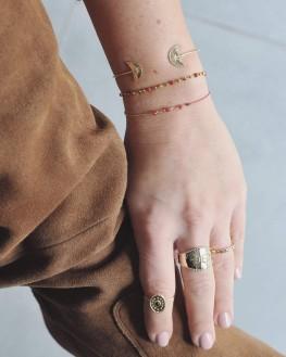 Création bague large plaqué or pour femme - Bijoux fantaisie créateurs x Madame Vedette
