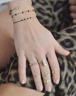 Bague tendance médaillon plaqué or - Création bijoux fantaisie x Madame Vedette