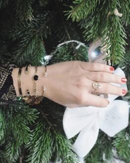 Tendance bracelet jonc ouvert plaqué or pour femme - Bijoux fantaisie créateurs x Madame Vedette