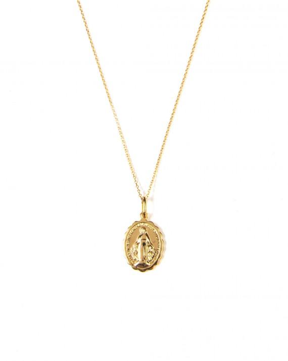 Grand collier sautoir pendentif madone - Bijoux fantaisie créateurs - Madame Vedette
