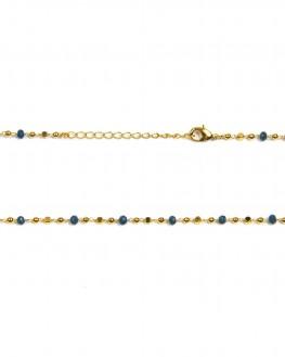 Collier fantaisie plaqué or pour femme - Madame Vedette, créatrice bijoux tendance