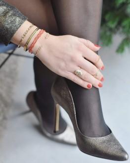 Bracelet jonc ouvert plaqué or et brillants zircon pour femme - Création bijoux x Madame Vedette