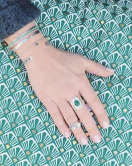 Bracelet argent pour femme et pierre couleur - Bijouterie fantaisie pour femme - Madame Vedette