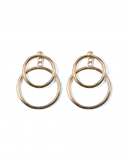 Boucles d'oreilles plaqué or double anneau - Bijoux créateurs x Madame Vedette