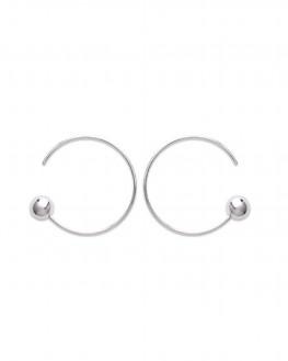 Boucles d'oreilles créoles en argent 925 pour femmes - Bijoux fins fantaisie - Madame Vedette