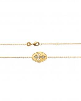 Tendance bijoux collier chaîne plaqué or et brillants pour femme - Madame Vedette