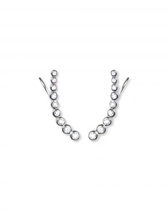 Nouveauté création boucles d'oreilles femme argent 925 et brillants - Bijoux fantaisie créateurs - Madame Vedette