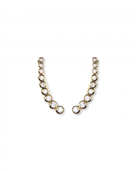Boucles d'oreilles lobe pour femme en plaqué or  - Création de bijoux - Madame Vedette