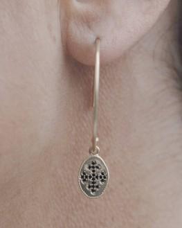 Boucles pendantes plaqué or pour femme - Bijoux fantaisie création - Madame Vedette
