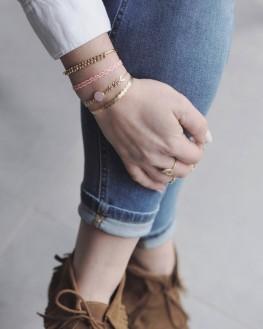 Bracelet ruban fin plaqué or pour femme - Madame Vedette, créatrice de bijoux tendance