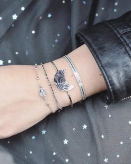 Bracelet chaîne argent 925 pour femme - Madame Vedette, bijoux haute fantaisie