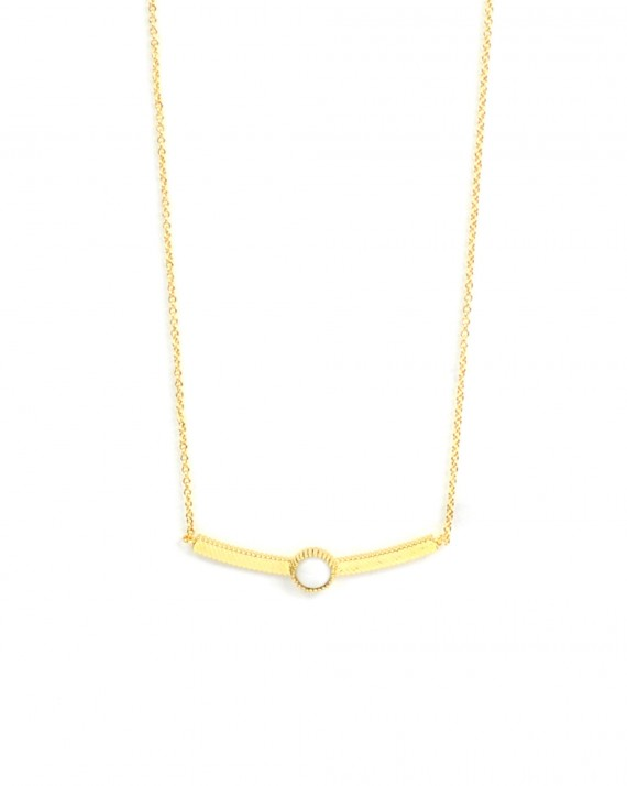 Collier fantaisie tendance plaqué or 18k et pierre fine - Bijoux tendance - Madame Vedette