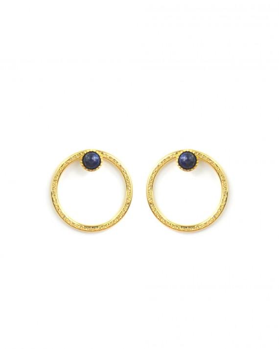 Boucles d'oreilles créateur plaqué or 18k - Bijoux fantaisie tendance - Madame Vedette