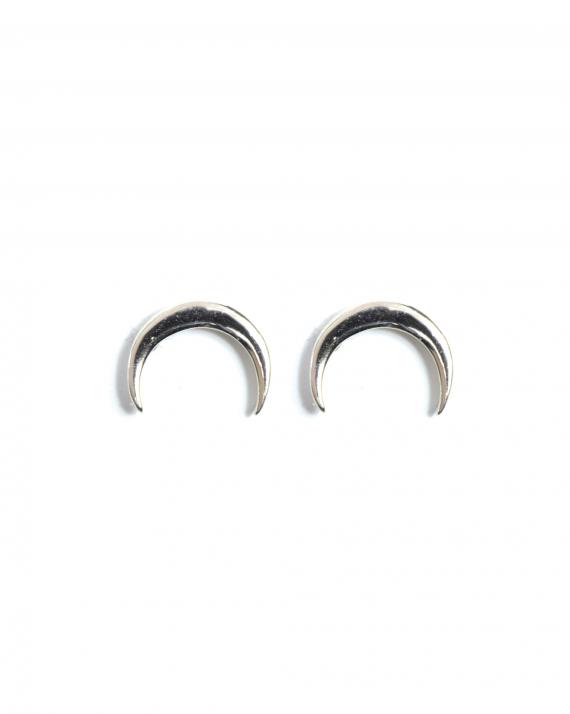 Boucles d'oreilles petites cornes en argent 925 création tendance femme - Madame Vedette