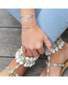 Bracelet infini entrelacé en argent 925 - Bijoux fantaisie pour femme - Madame Vedette
